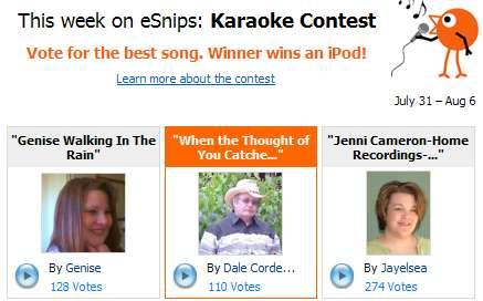 eSnips Karaoke Contest